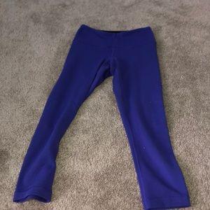 lululemon purple capri leggings
